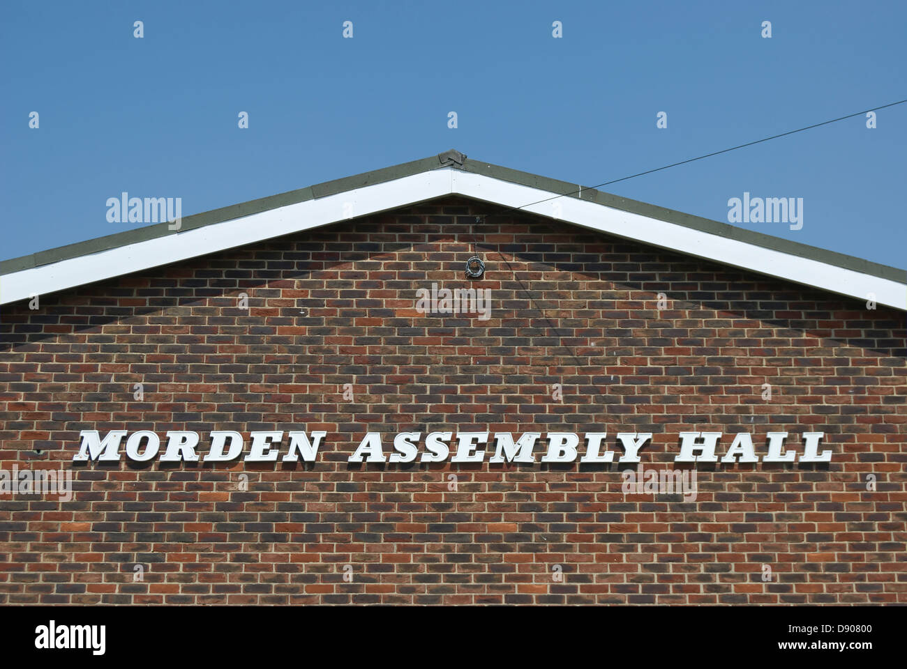 exterior of morden assembly hall, morden, south london, england Stock Photo