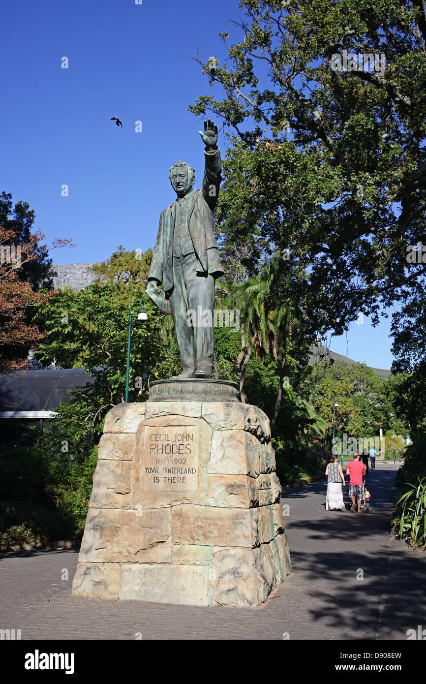 Cecil John Rhodes statue Stock Photo