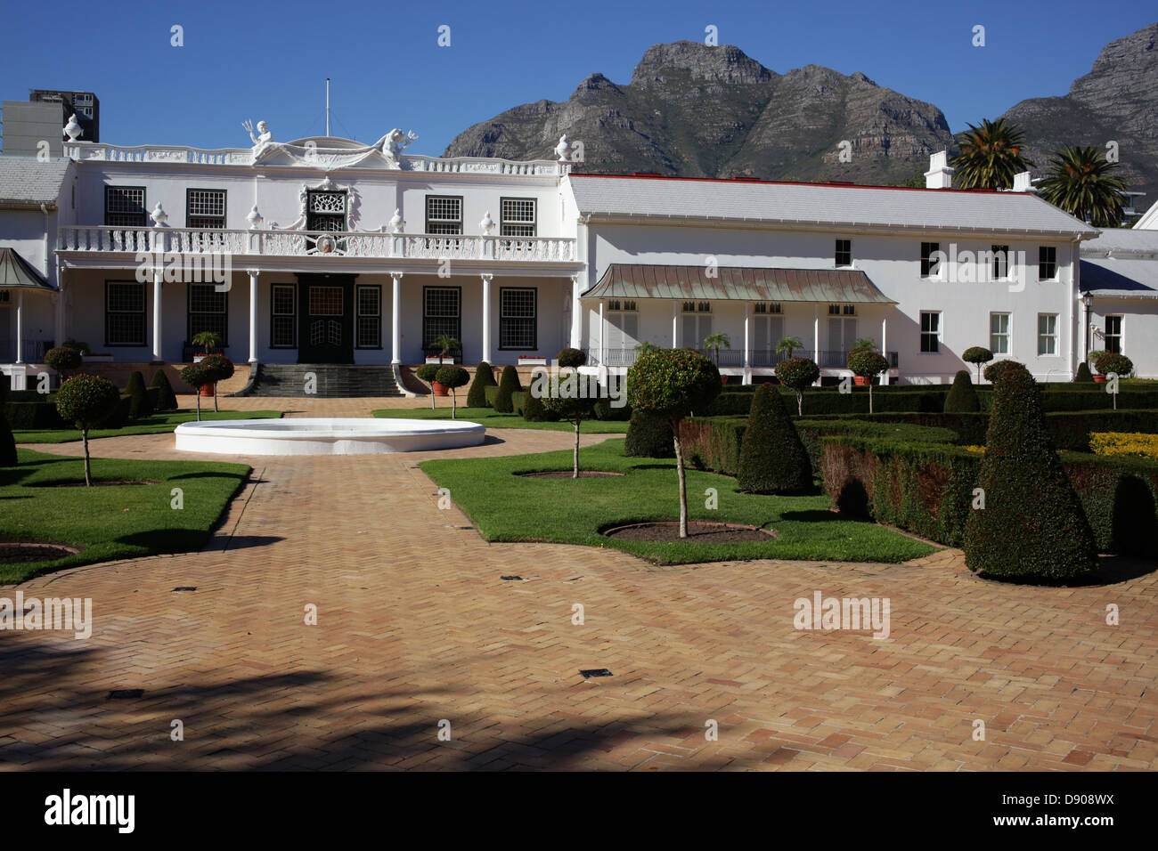 De Tuynhuys at The Company's Garden in Cape Town - Stock Image