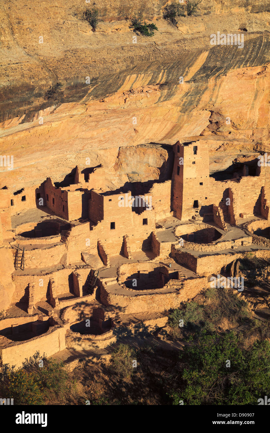 USA, Colorado, Mesa Verde National Park (UNESCO Heritage), Cliff Palace dwellings - Stock Image