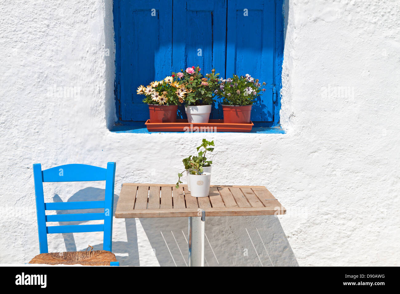 Traditional Greek house from the Cyclades islands. - Stock Image