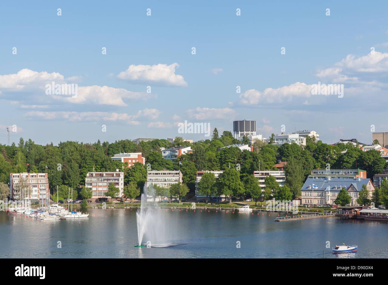 Lake view of Lappeenranta Stock Photo