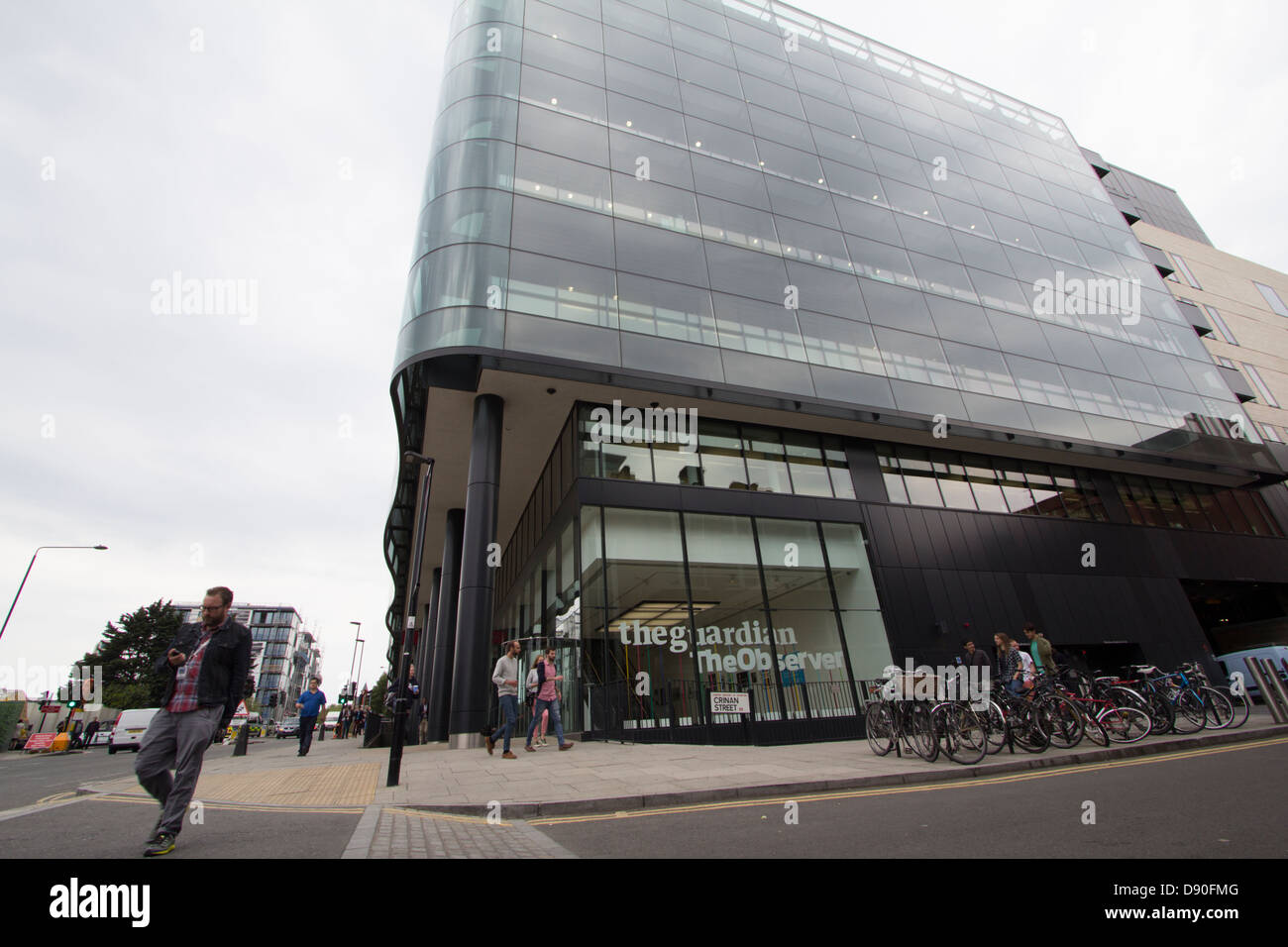 The Guardian and Observer newspaper head office London - Stock Image