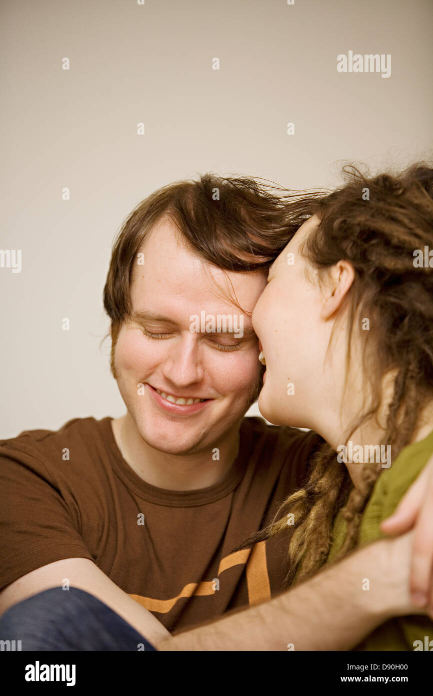 Couple embracing, Stockholm, Sweden. Stock Photo