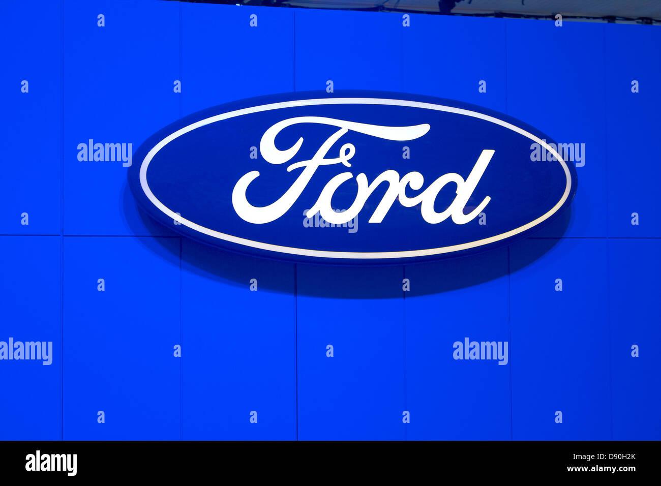 Ford Automobile logo - Stock Image