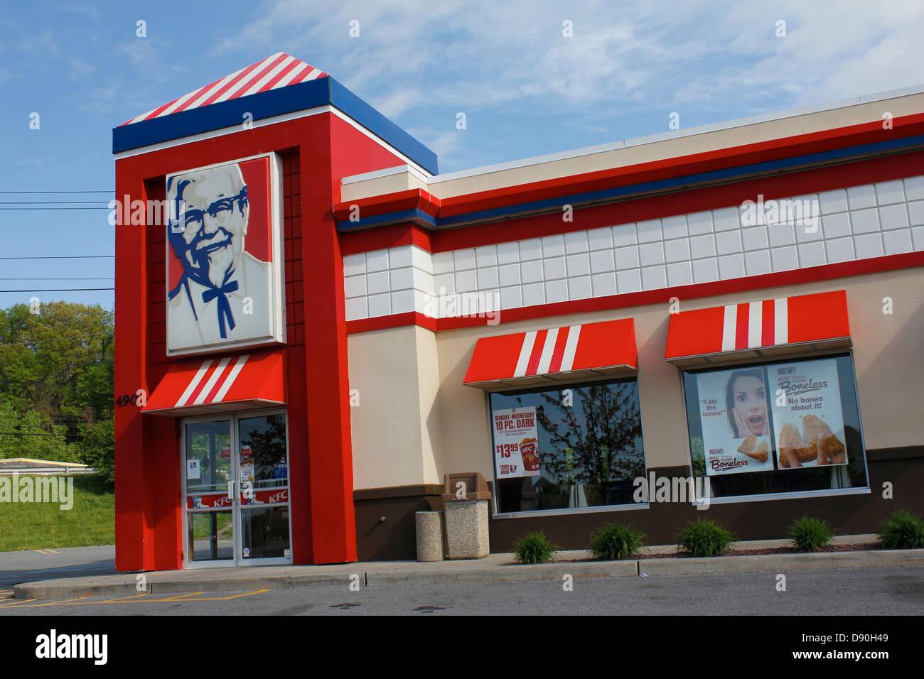 Kfc Kentucky Fried Chicken Store Front Stock Photo