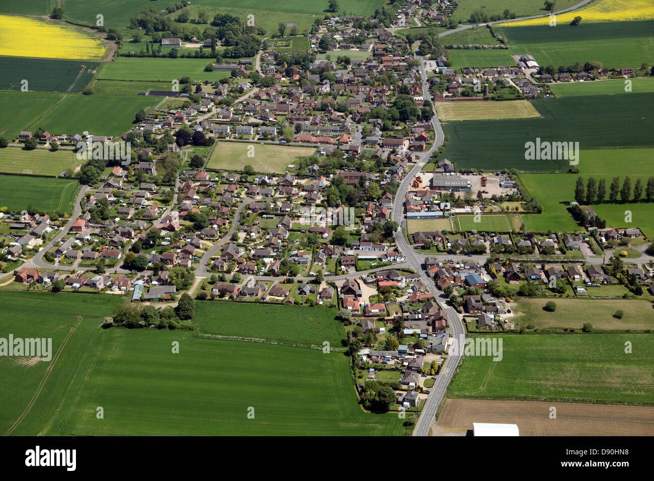 aerial view of Mareham-le-Fen in Lincolnshire Stock Photo
