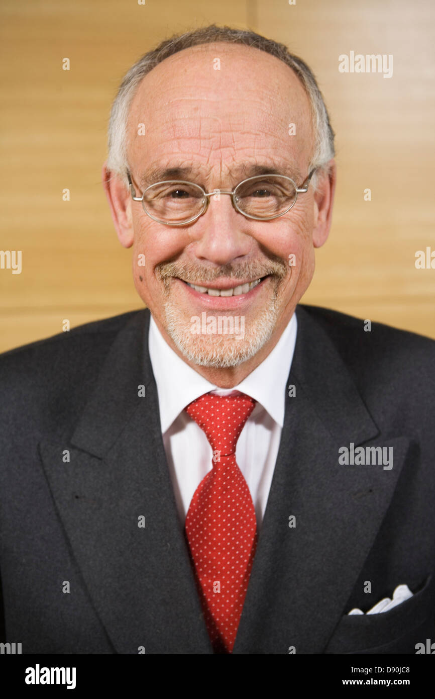 Portrait of a smiling buisness man. - Stock Image