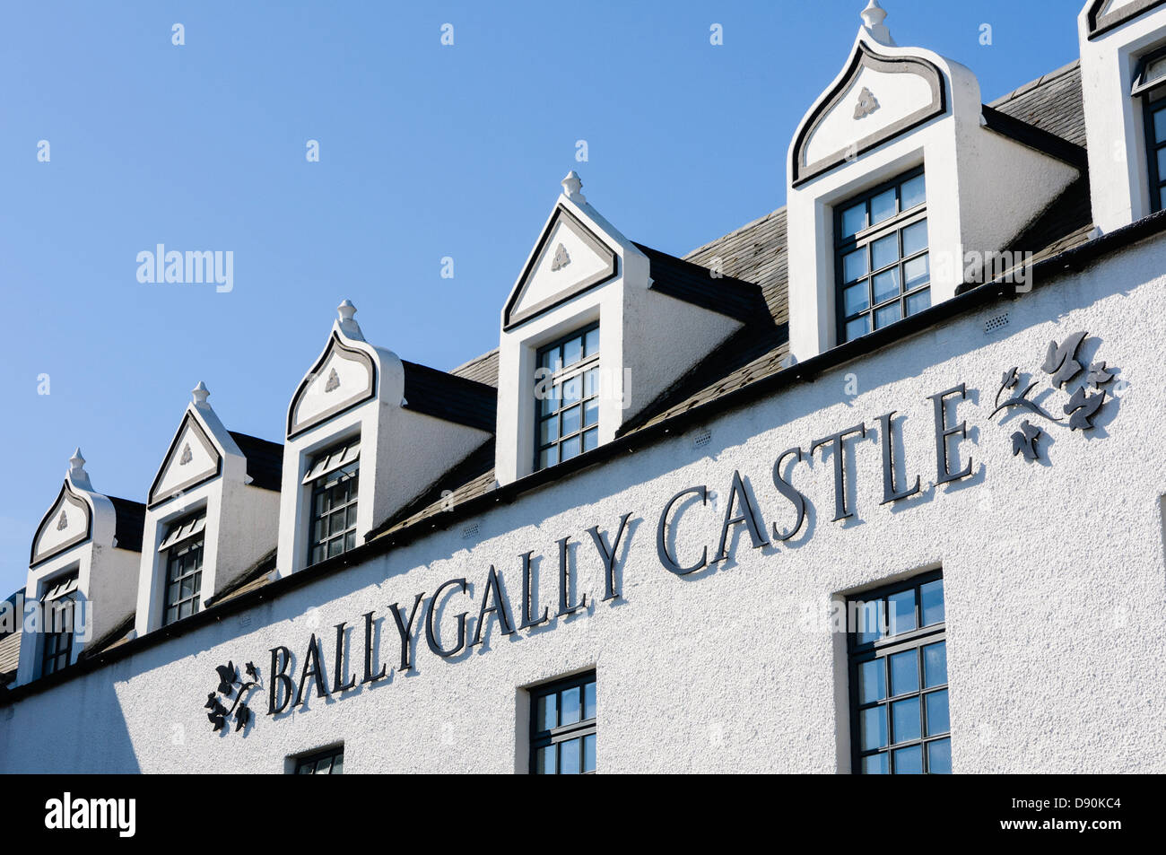 Ballygally Castle Hotel, Balleygally, Larne, County Antrim, Northern Ireland. Part of the Hastings Group of hotels. - Stock Image