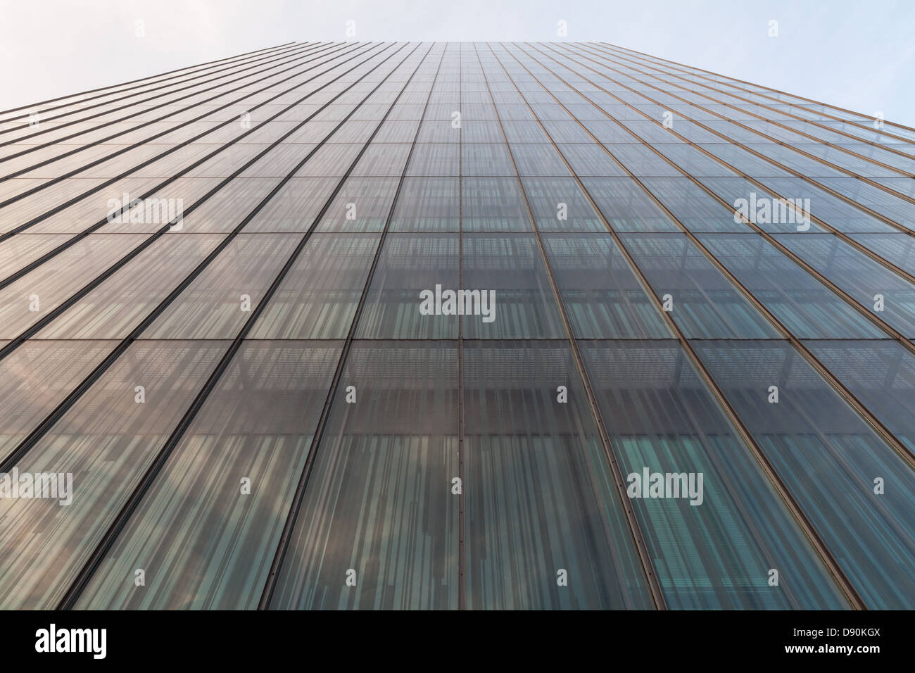 Modern glass wall architecture - Stock Image