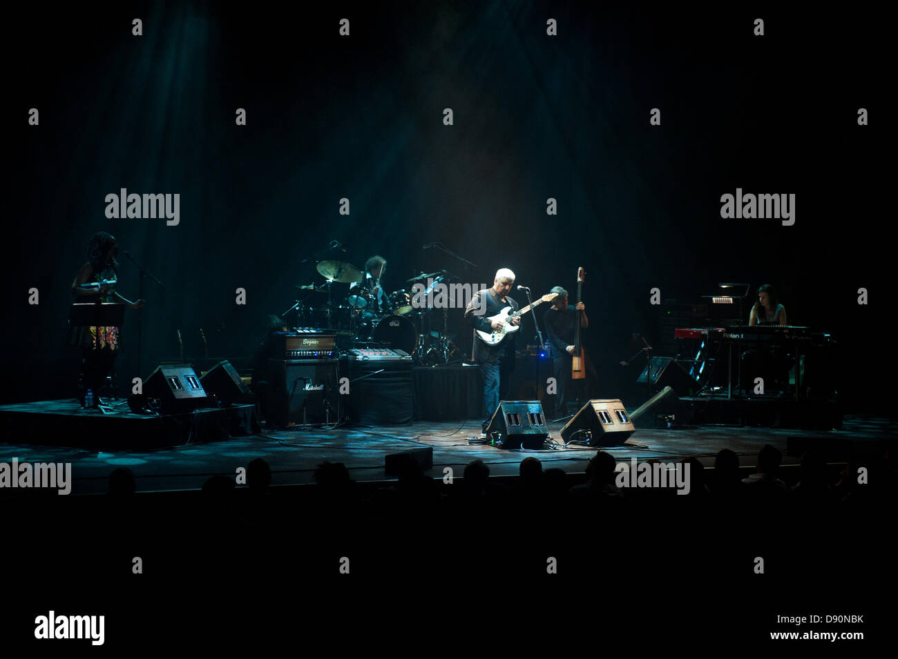 London, UK. 7th June 2013. Pino Daniele, the italian bluesman from Naples, makes his UK debut live at Barbican Centre. - Stock Image