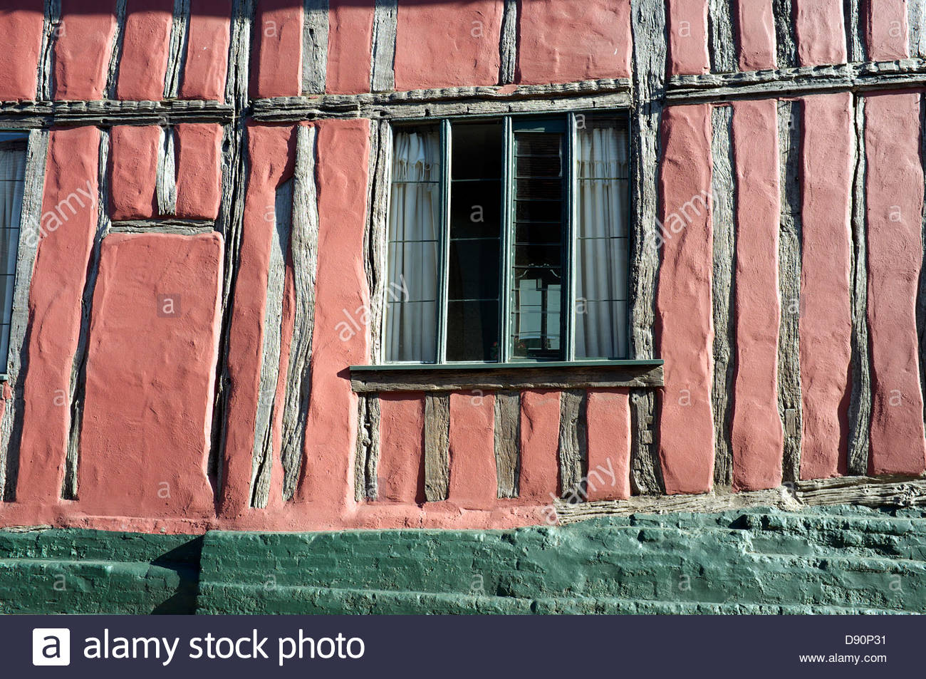Detail section of the house 'Bridewell', in New Street in Woodbridge in Suffolk, UK. - Stock Image