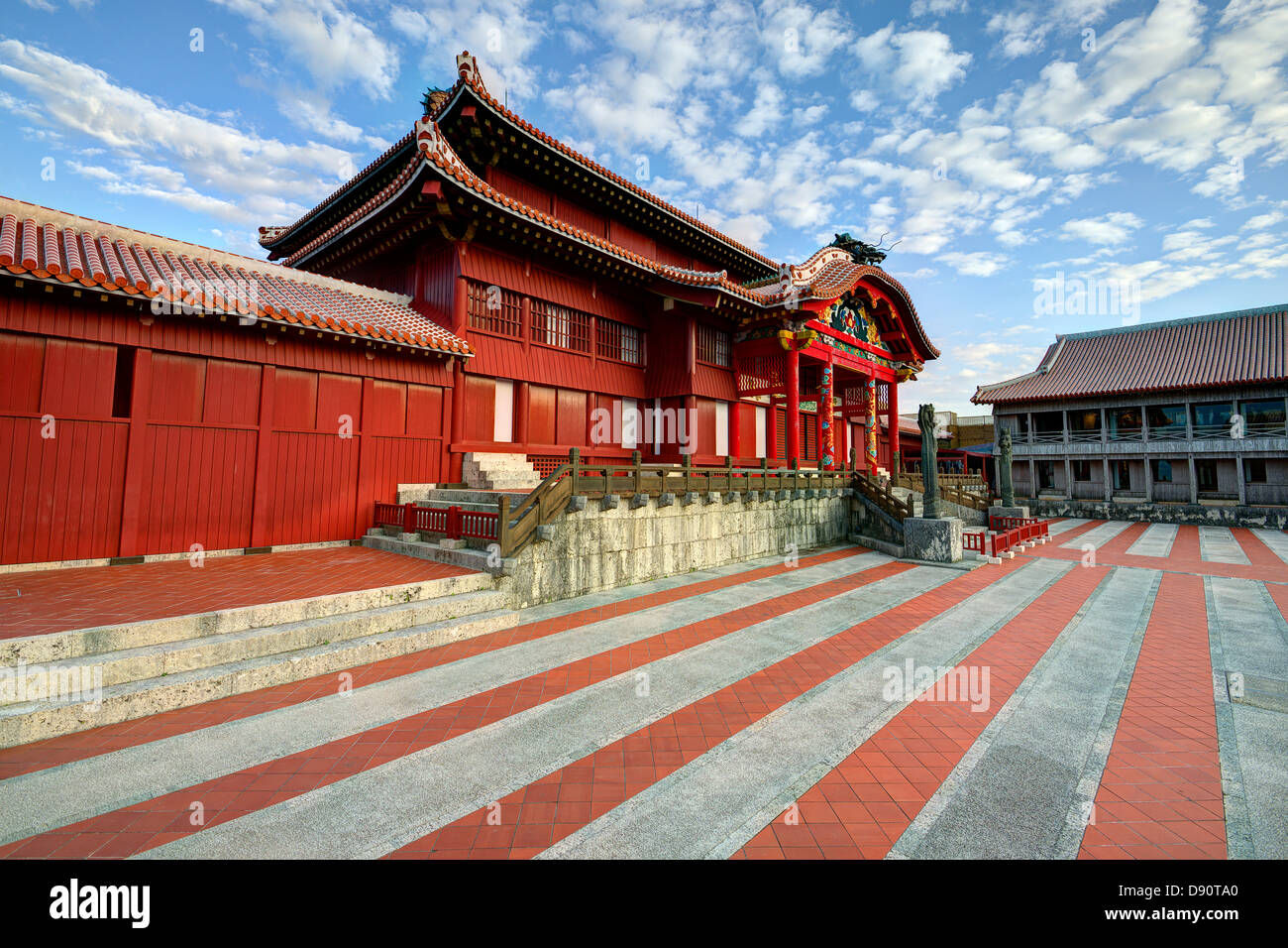 Shuri Castle in Okinawa, Japan. - Stock Image