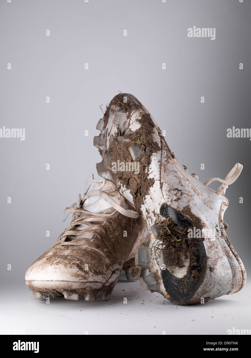 on sale 13559 36811 Close up of pair of dirty soccer shoes