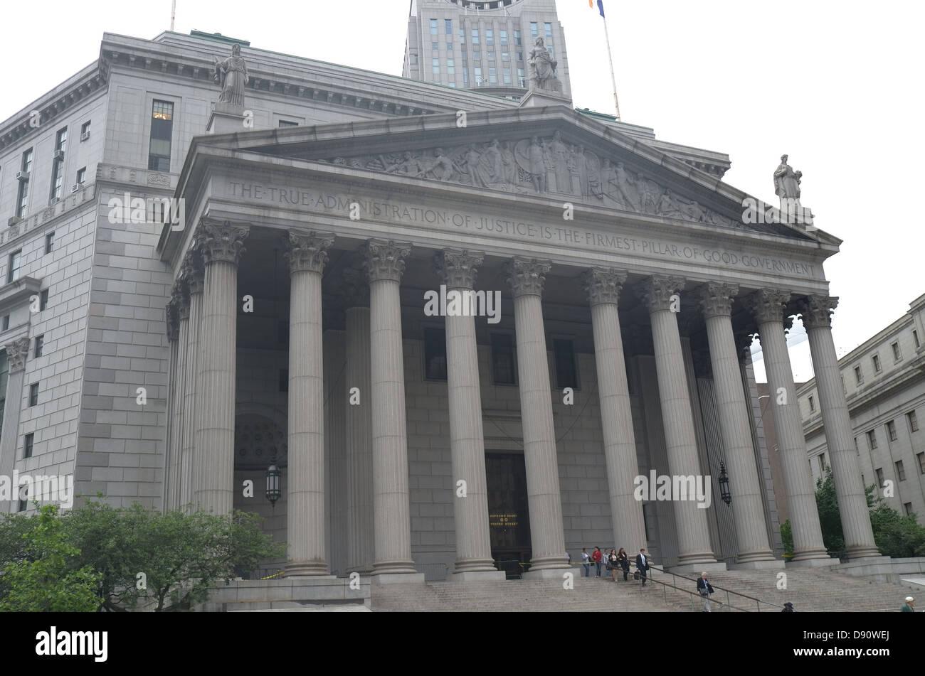 Thurgood Marshall United States Courthouse New York City - Stock Image