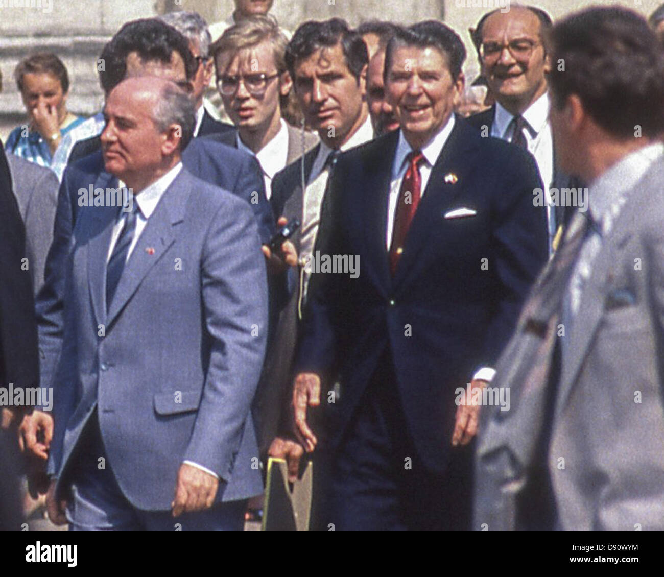 May 31, 1988 - Moscow, RU - General Secretary of the Communist Party of the Soviet Union MIKHAIL GORBACHEV and U.S. - Stock Image