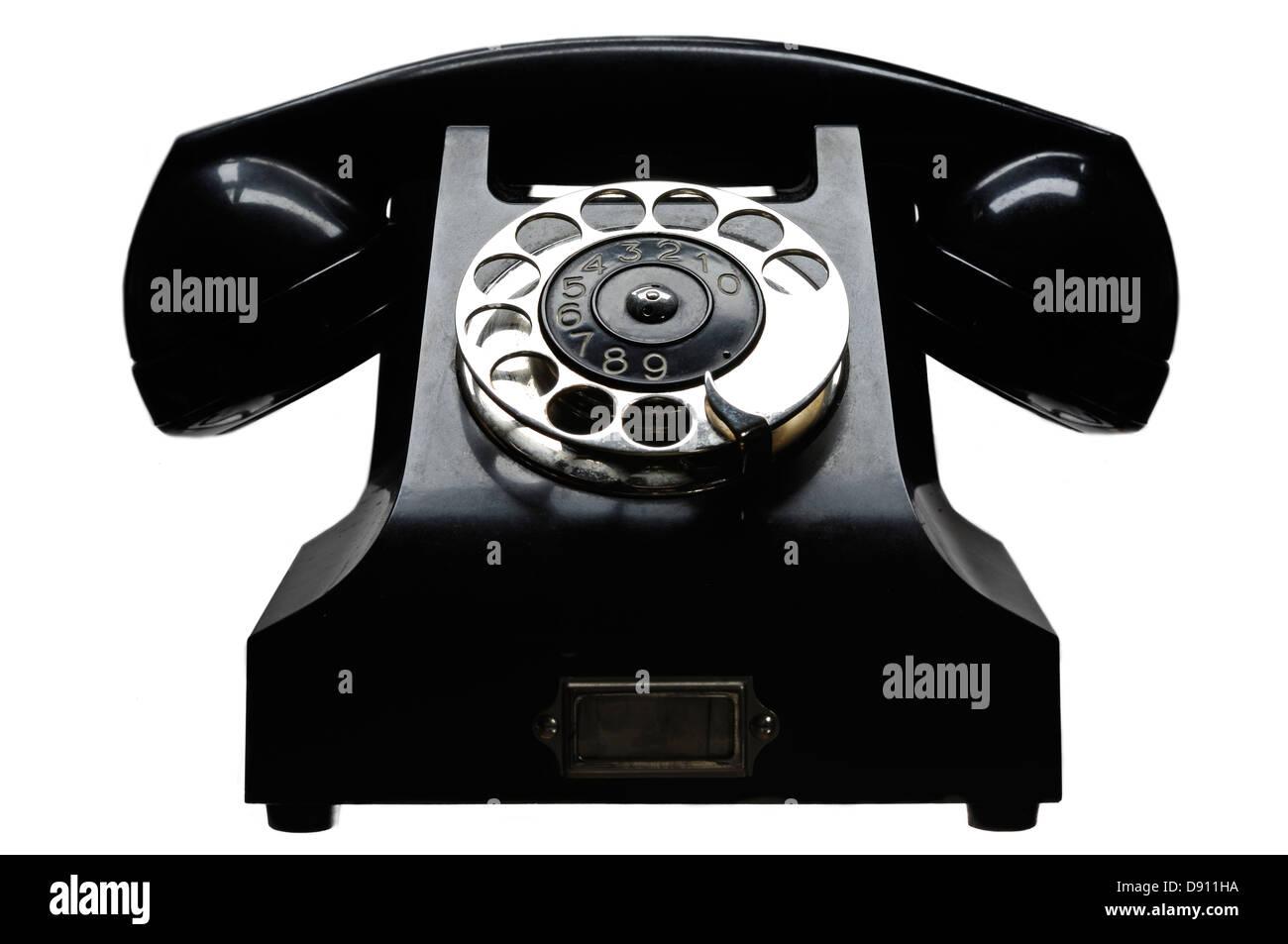 Old Telephone Shape Stock Photos & Old Telephone Shape Stock