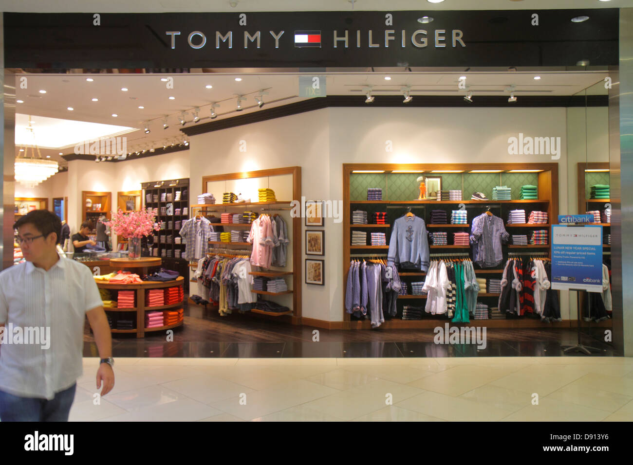f2432f279 Singapore Raffles City Shopping Centre center shopping front entrance  retail display for sale Tommy Hilfiger clothing