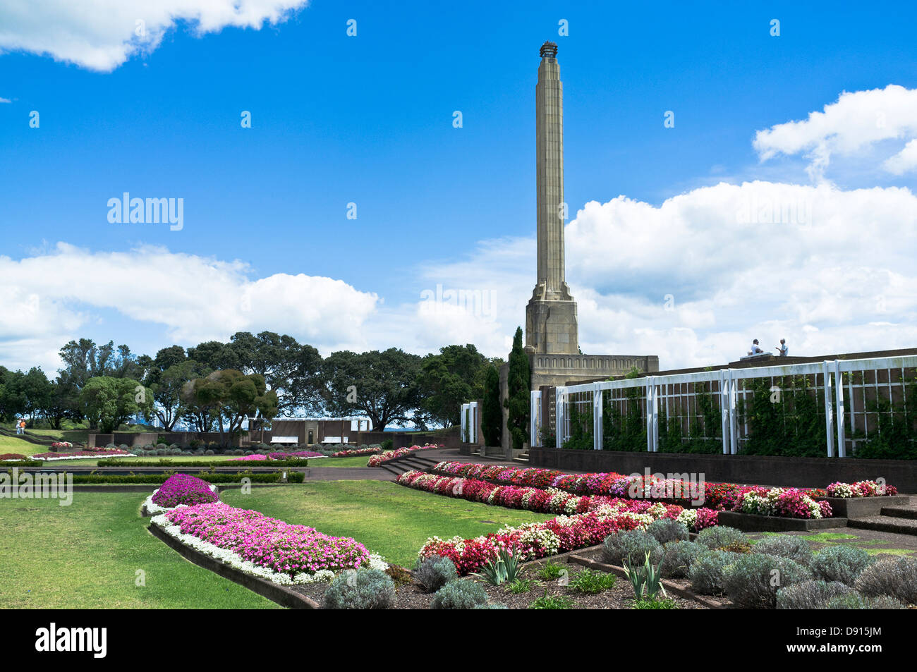 dh Bastion Point AUCKLAND NEW ZEALAND Memorial garden to Michael Joseph Savage first Labour prime minister - Stock Image