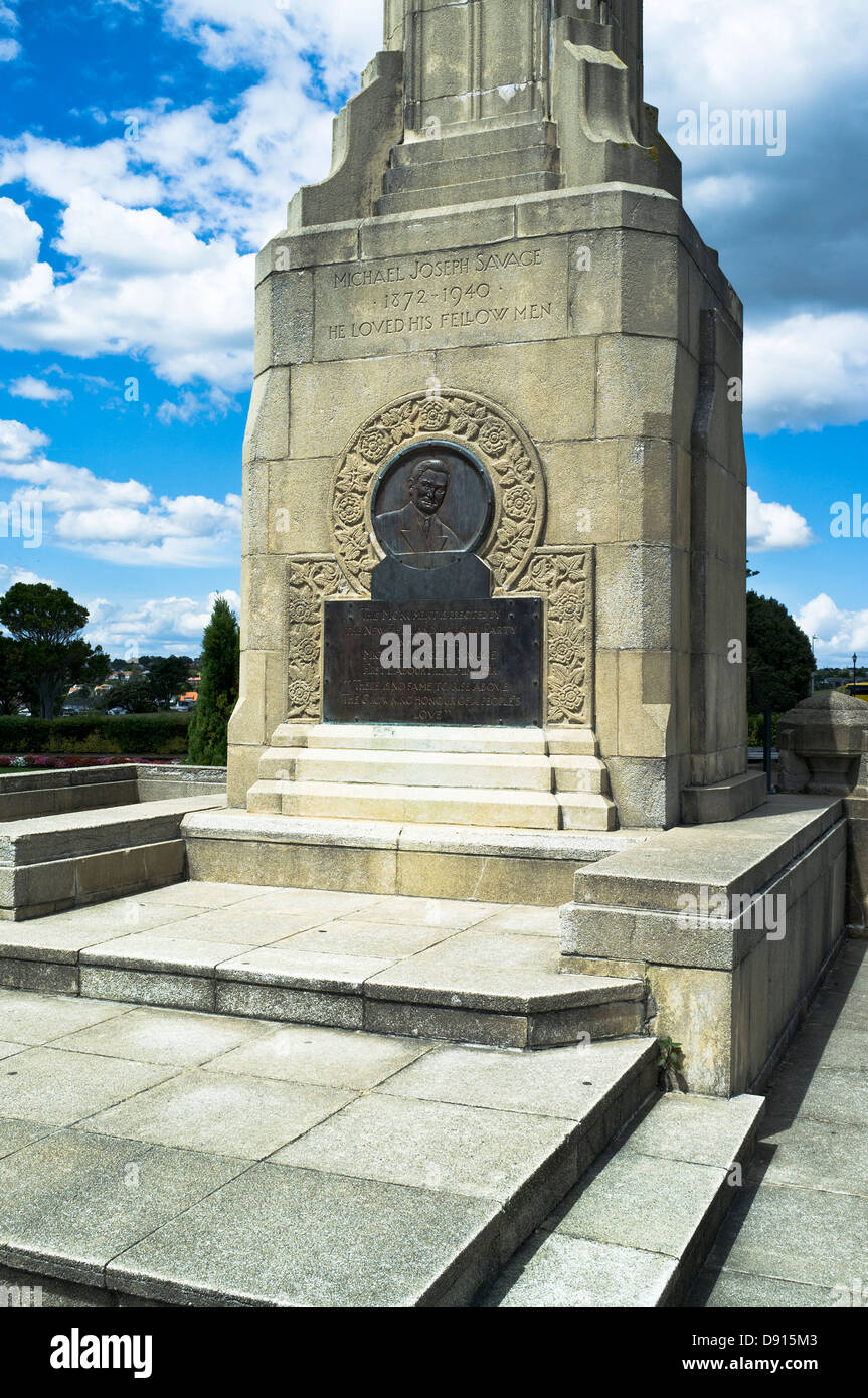 dh Bastion Point AUCKLAND NEW ZEALAND Michael Joseph Savage memorial first Labour prime minister - Stock Image