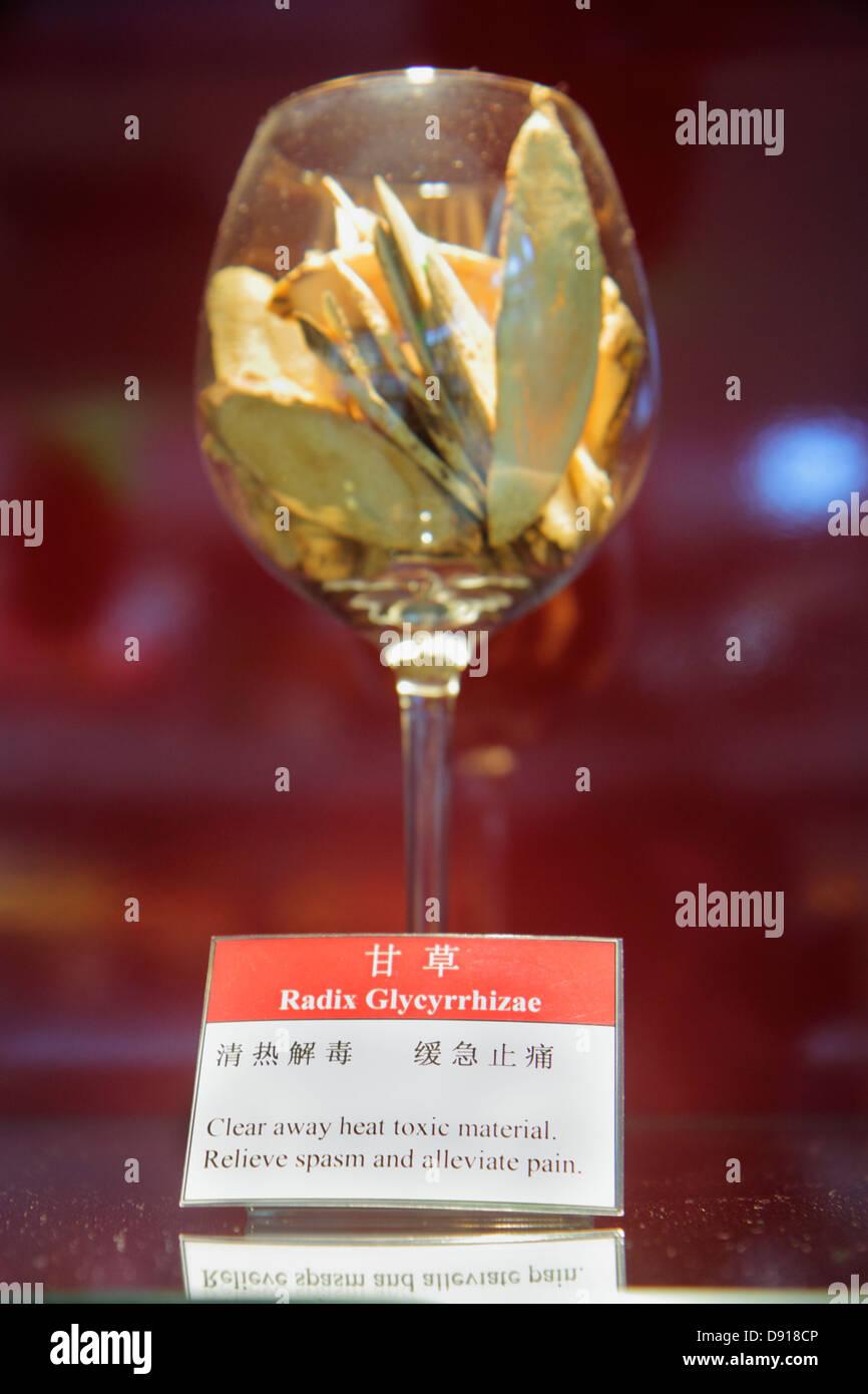 Singapore The Shoppes at Marina Bay Sands shops shopping restaurant food court liquorice root radix glycyrrhizae - Stock Image