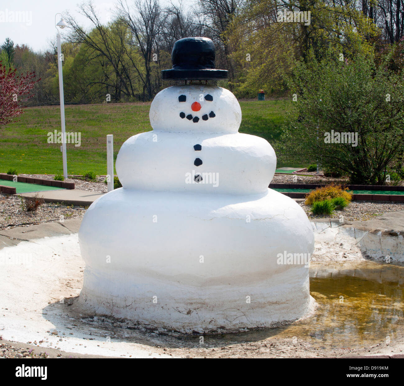 Frosty the Snowman in Santa Claus Indiana - Stock Image