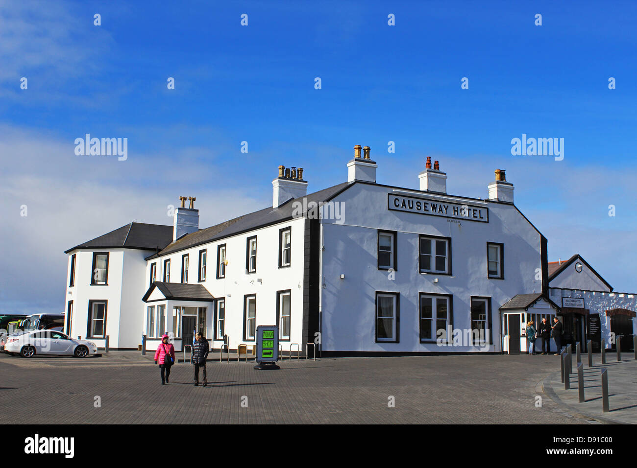 Causeway Hotel, Giant's Causeway hotel, County Antrim, Northern Ireland, UK - Stock Image