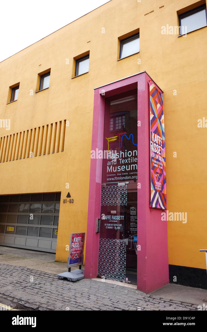The Fashion and Textile Museum, Bermondsey, Southwark, London, Britain, UK - Stock Image