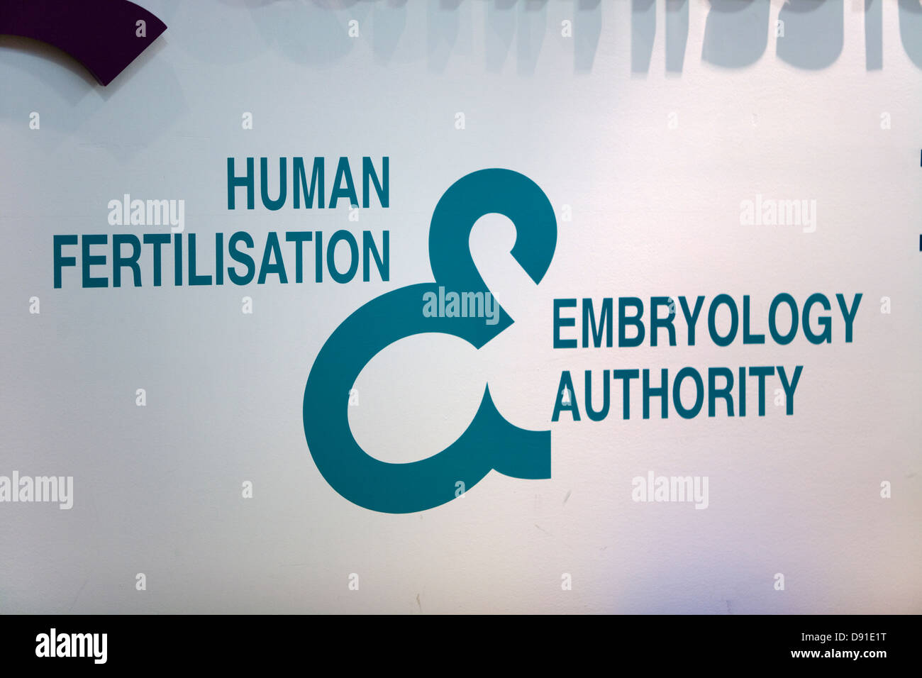 Human Fertilisation and Embryology Authority logo. UK. - Stock Image