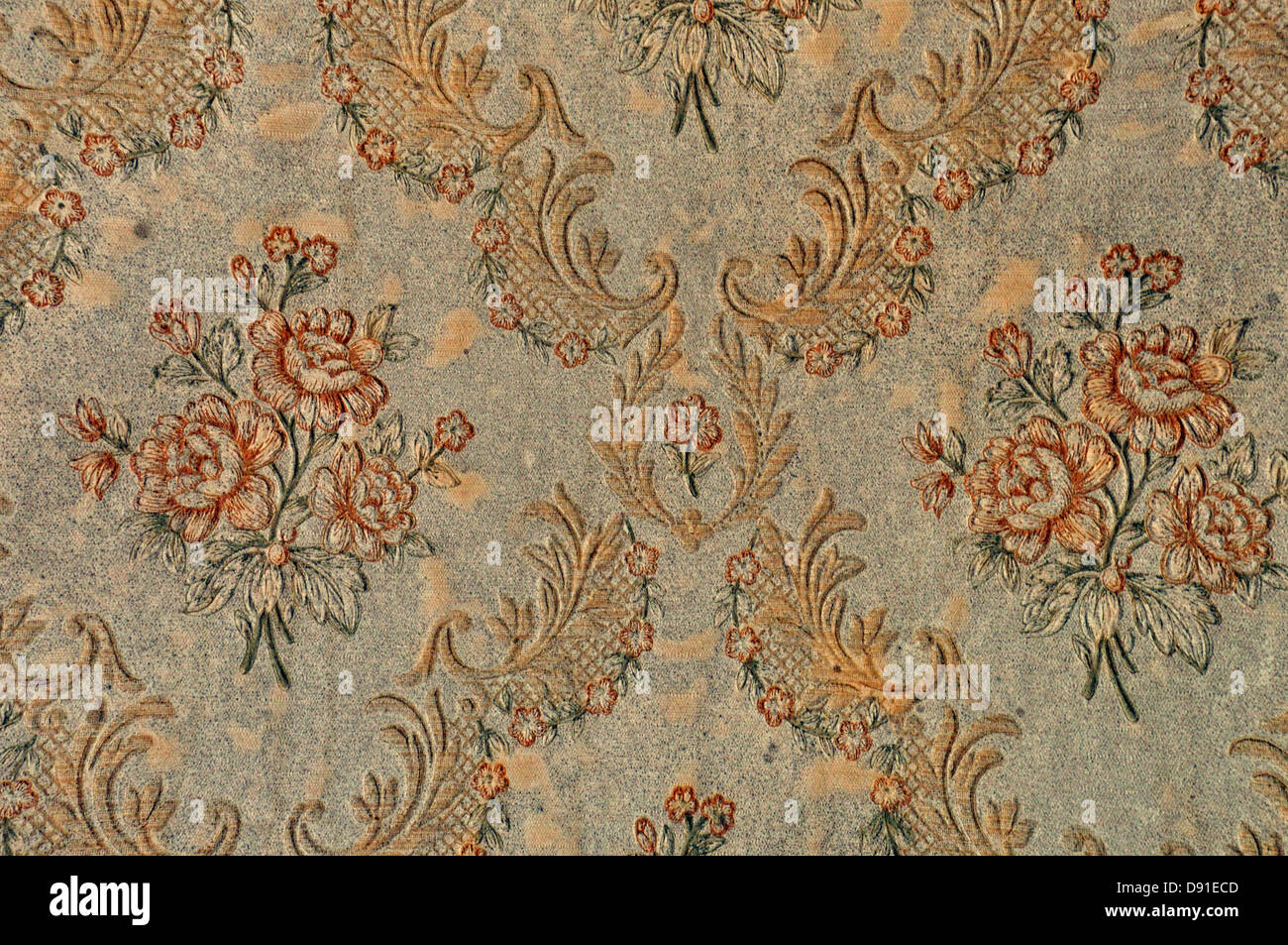 Antique Floral Pattern Victorian Wallpaper Retro Background