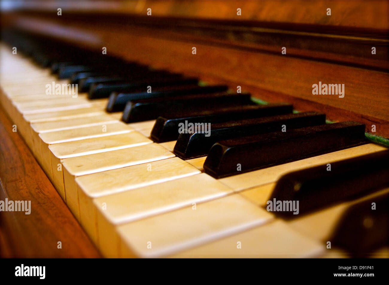 keys piano old historically music song sound - Stock Image