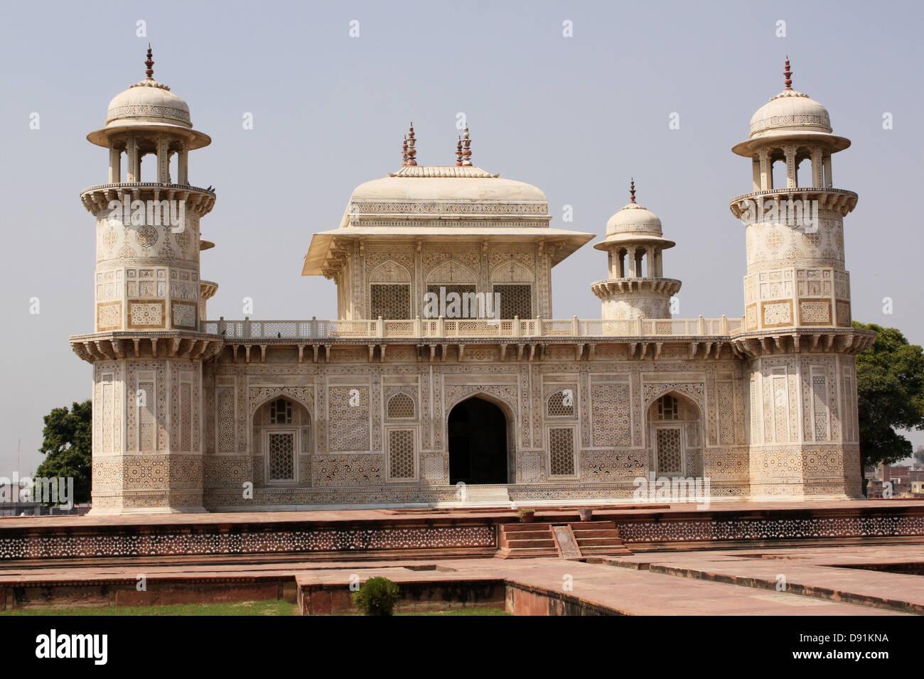 Jewel box or Baby Taj, Mausoleum of Etimad-ud-Daulah Agra India Stock Photo