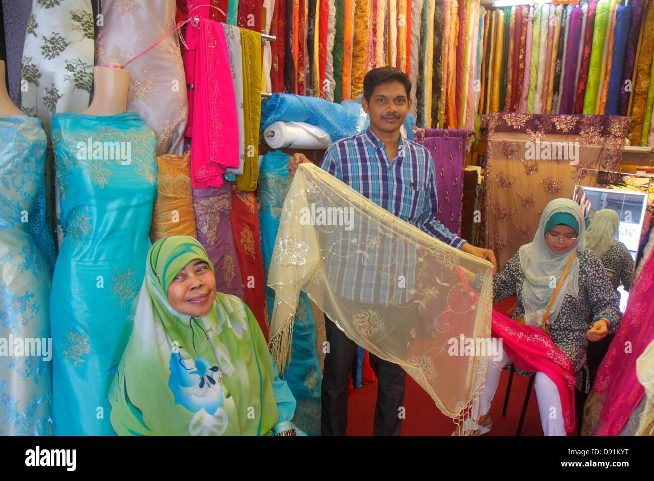 Singapore Kampong Glam Muslim Quarter Arab Street textile