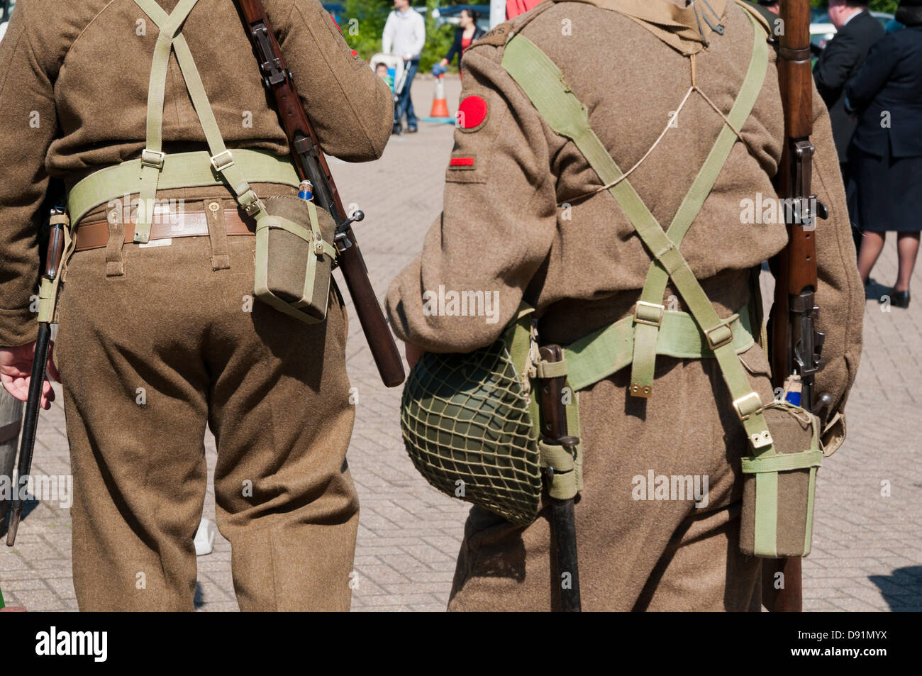 Hampshire, England, UK. 8th June 2013. War on the Line, a re-enactment of all things World War II is celebrated Stock Photo