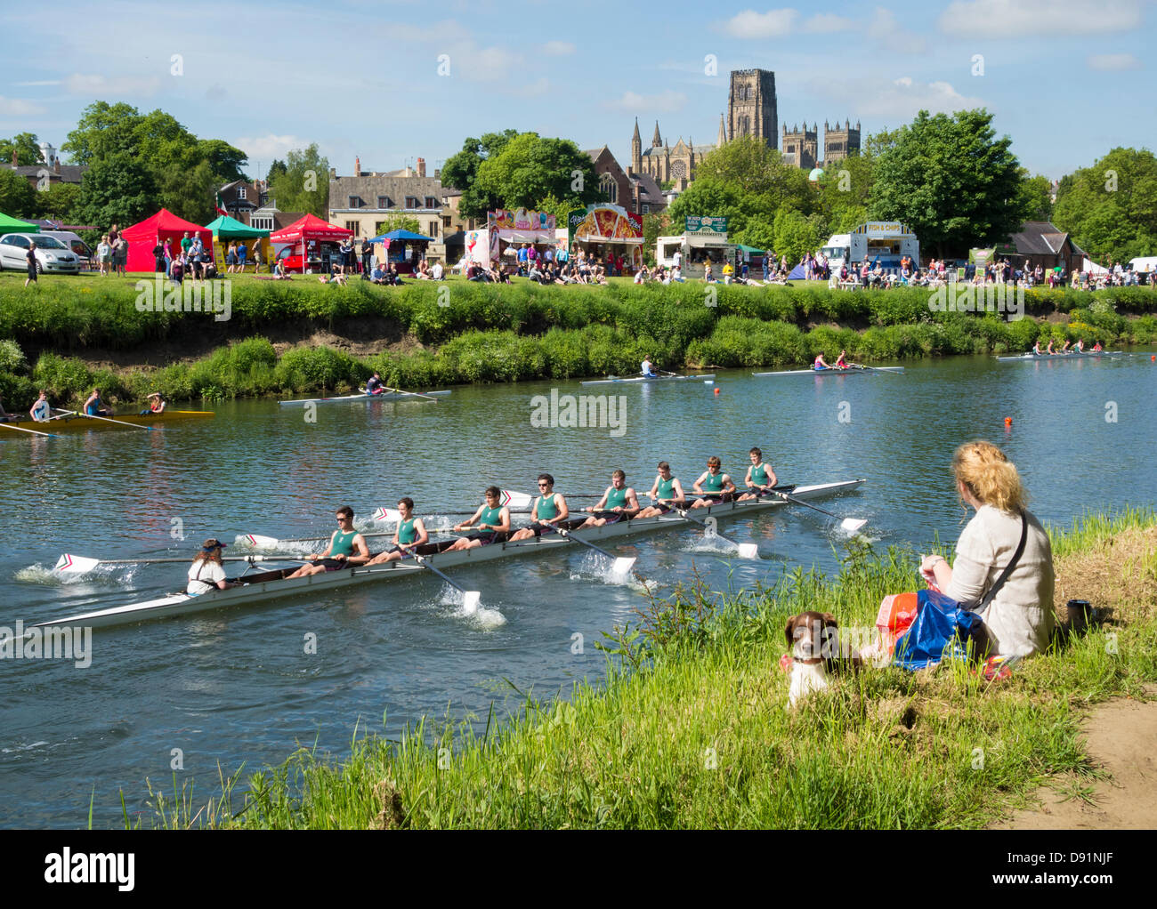 Durham rowing Regatta, Durham, England, UK Stock Photo