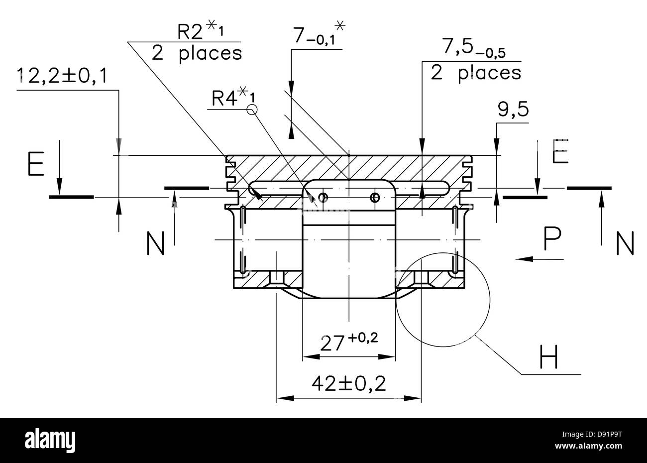 Internal Combustion Engine Cut Out Stock Images Pictures Alamy Vw Piston Diagram Design Drawings Of Nonexistent Clipping Path Image