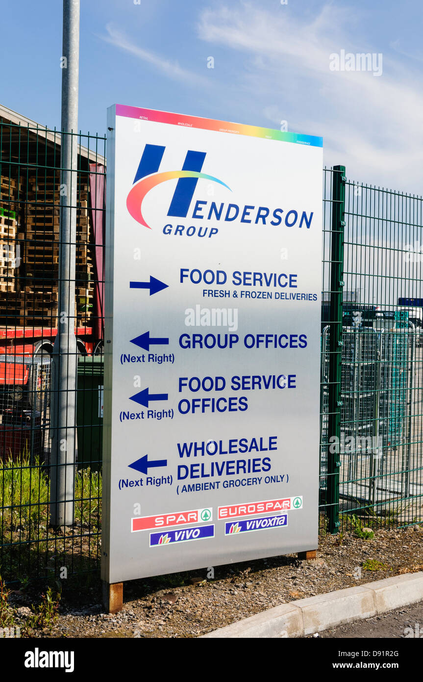 Henderson Group, Northern Ireland's biggest independent warehouse to supermarket chains such as Spar and VIvo. Stock Photo