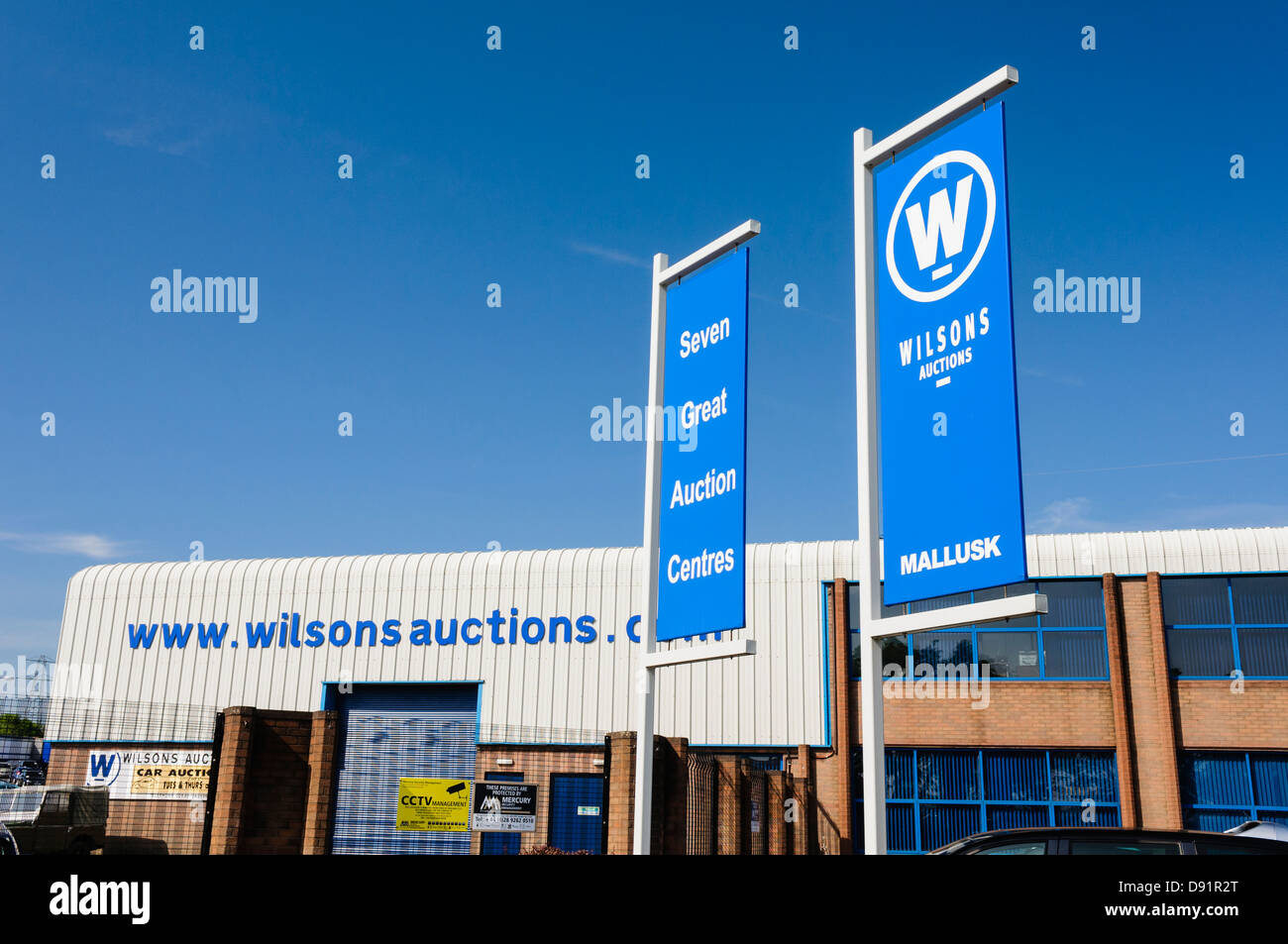 Wilson's Auction, Mallusk - Stock Image
