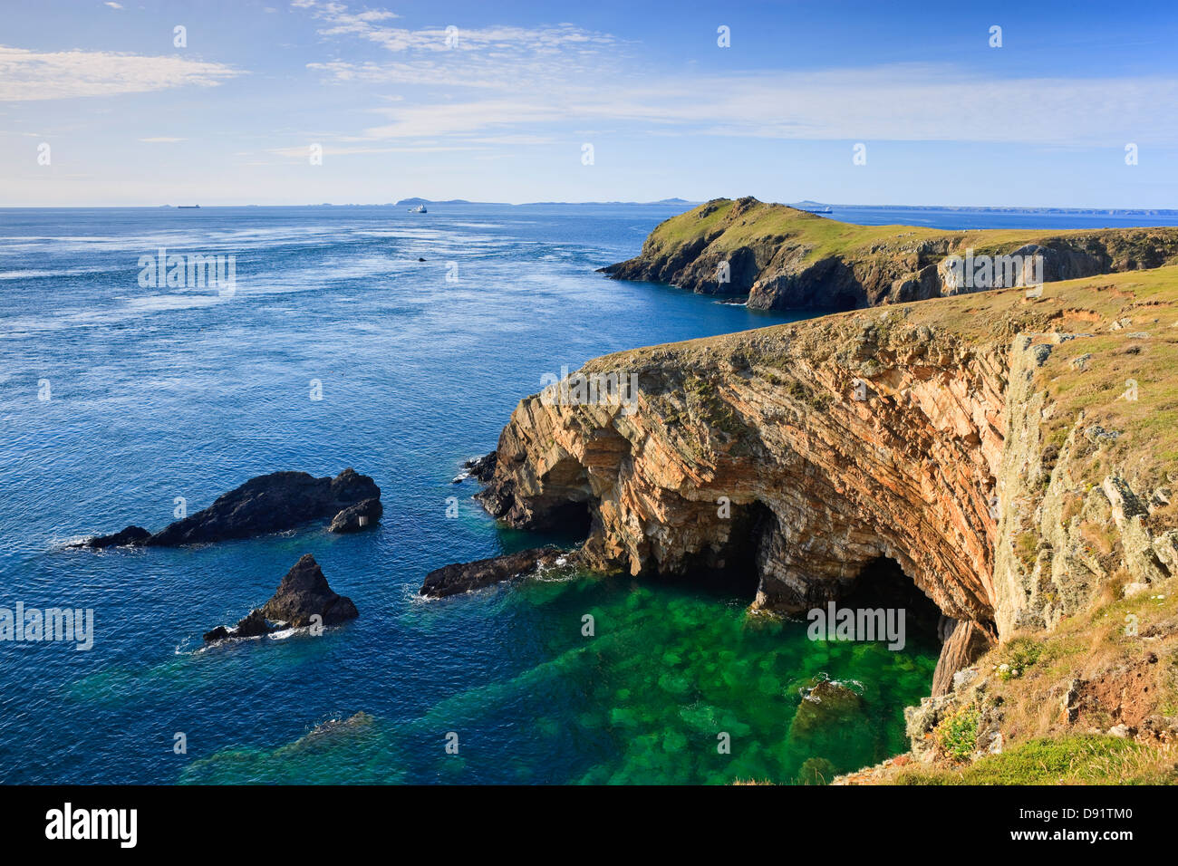 Wooltack Point Martins Haven Pembrokeshire Wales - Stock Image