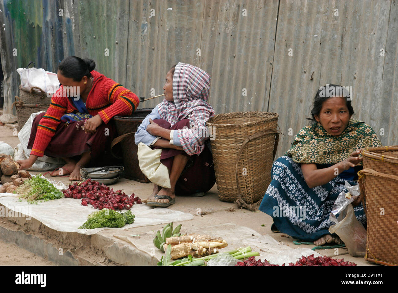 Tribal women selling vegetables and smoking traditional tobacco pipe Rangamati market Chittagong Hill Tracts Bangladesh  sc 1 st  Alamy & Tribal women selling vegetables and smoking traditional tobacco pipe ...