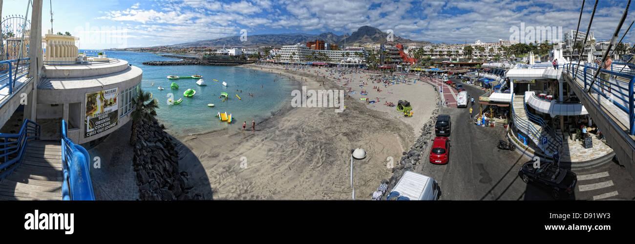 Panorama of La Pinta beach Adeje South Tenerife Canary Islands Spain Stock Photo