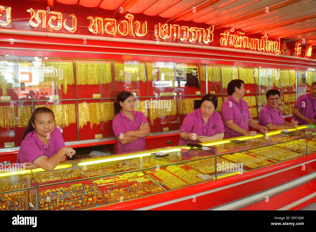 Bangkok Thailand Samphanthawong Chinatown Yaowarat Road gold