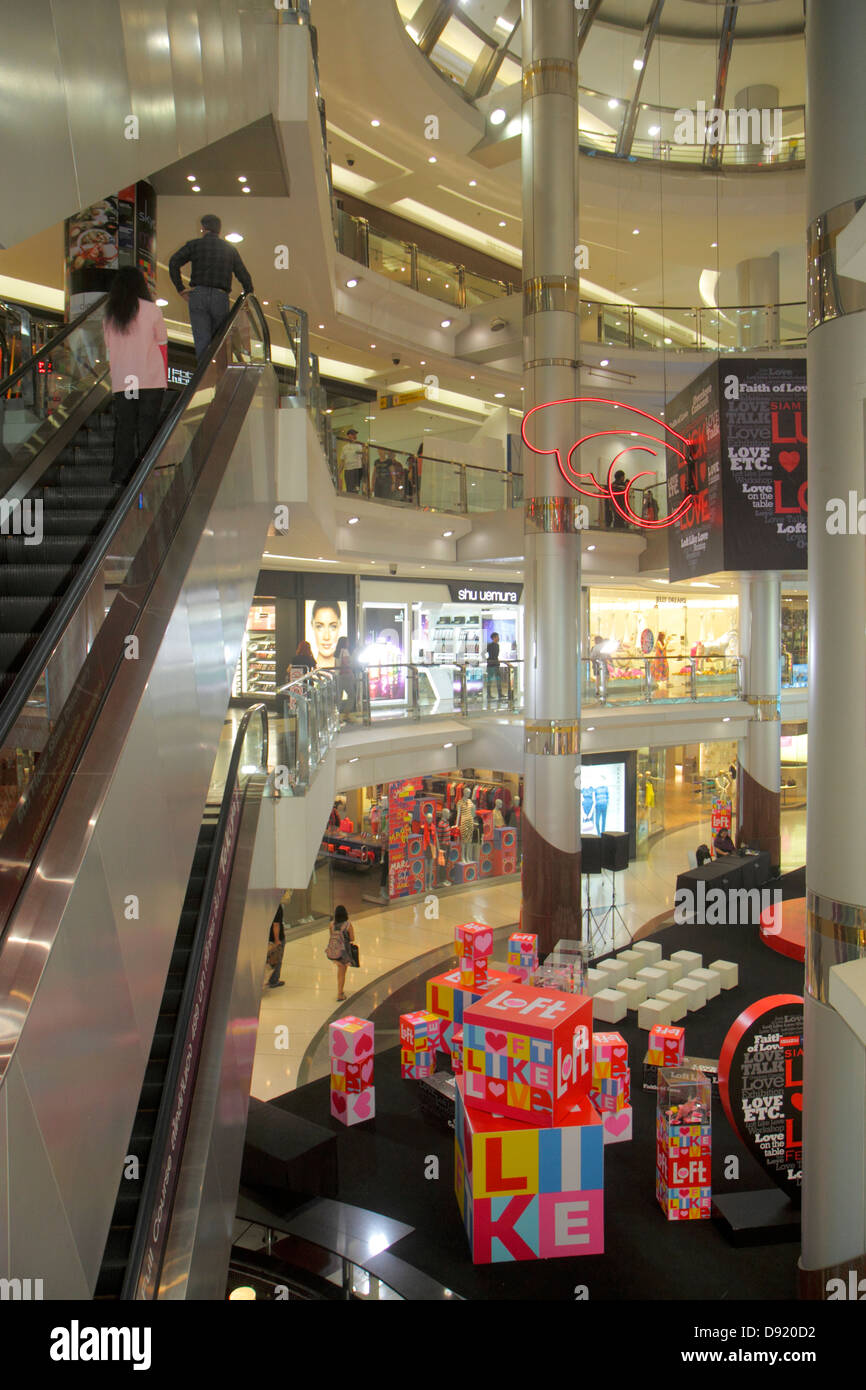 e9b14994688f Bangkok Thailand Pathum Wan Rama 1 Road Siam Center centre Discovery  complex mall shopping escalator -