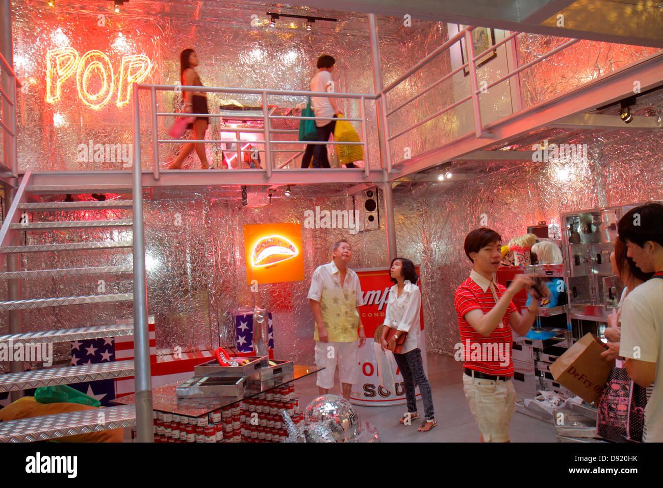 bbac9890f5d1 Bangkok Thailand Pathum Wan Rama 1 Road Siam Center centre Discovery  complex mall shopping art exhibit