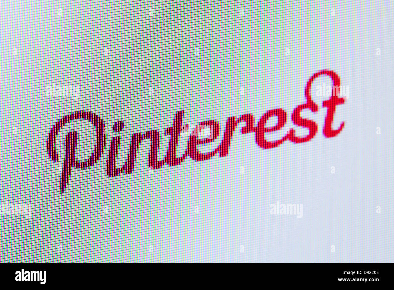 Pinterest website screen capture - Stock Image