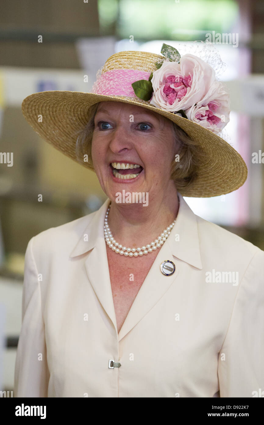 Miss Penelope Keith at the South Of England Show,Ardingly,Sussex. - Stock Image
