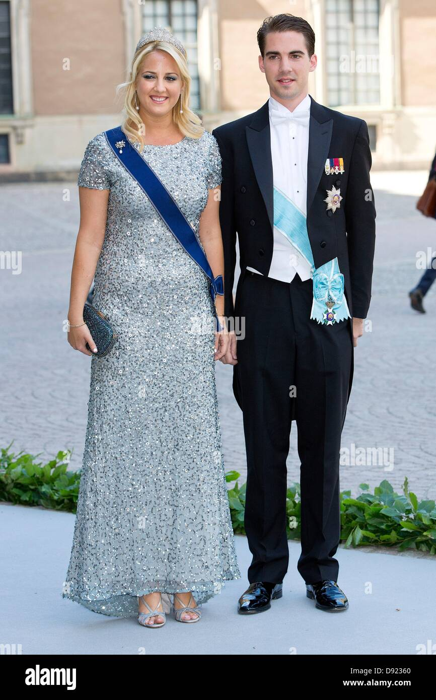 Stockholm, Sweden. 8th June, 2013. Prince Phillippos and Princess ...