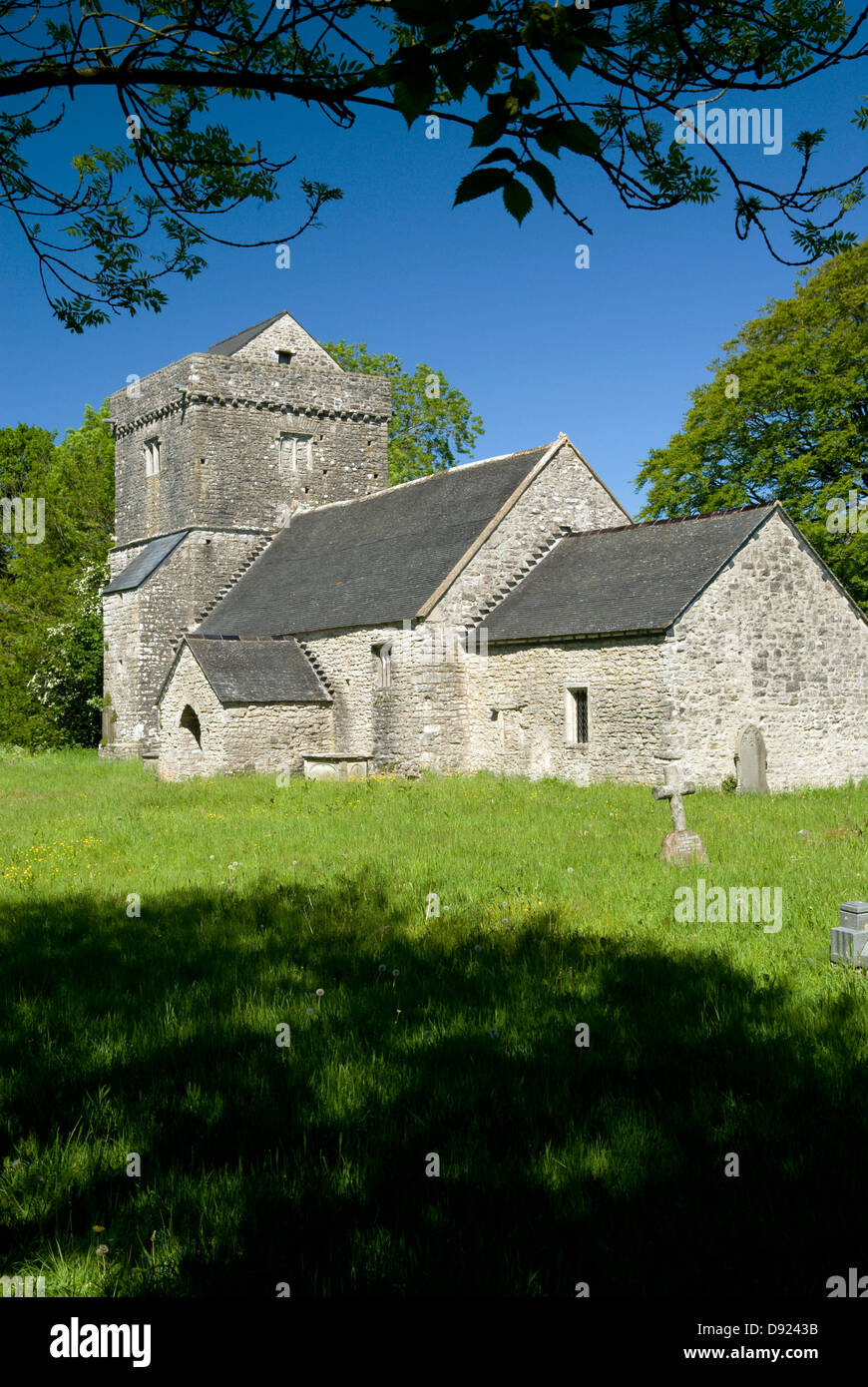 Llanfrynach Church, Cowbridge, Vale of Glamorgan, South Wales, UK. Stock Photo