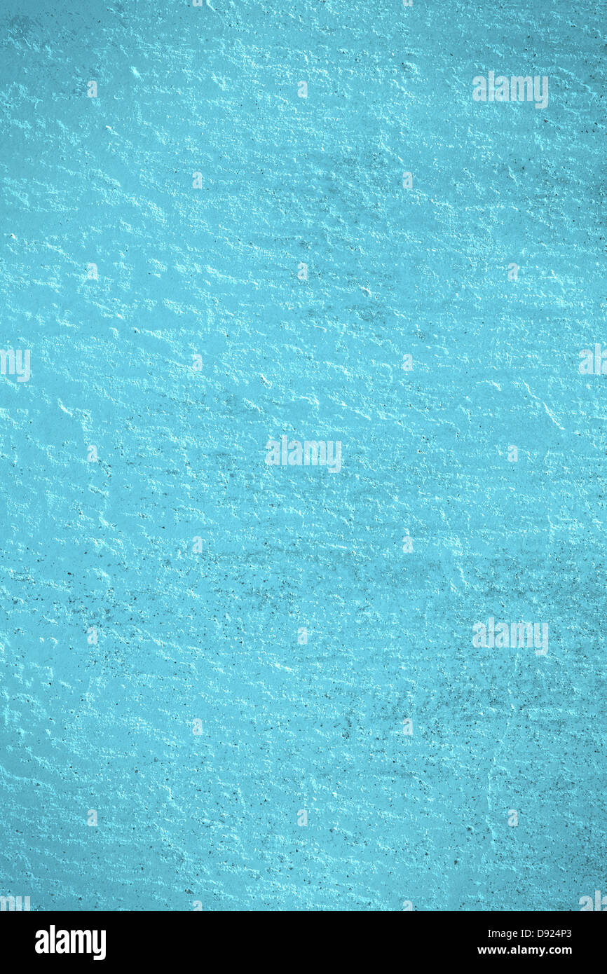blue plaster background or rough pattern turquoise texture Stock Photo