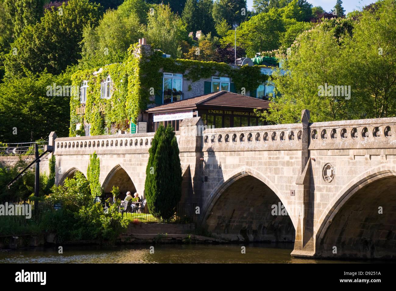 Toll bridge over the River Avon at Bathampton Somerset Stock Photo